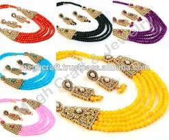 costume jewelry pearl necklace images Ethnic pearl necklace earring set indian traditional jewelry jpg