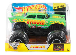 monster truck jams videos wheels monster jam avenger 1 24 die cast vehicle shop