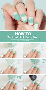 outlined half moon manicure tutorial