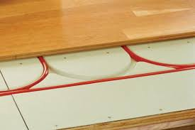 viewing a thread radiant in floor heat retrofit for house