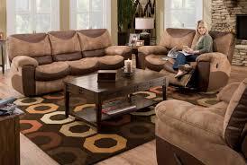 Two Tone Reclining Sofa Living Room Catnapper Portman Reclining 3 Sofa Set