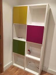 bookshelves storage unit white gloss finish in guildford