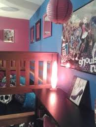 monster high themed bedroom zigzags and stripes done by me for my