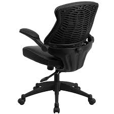 flash furniture bl zp 804 gg mid back leather office chair