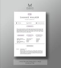 modern resume template 2 page resume 1 page cover letter