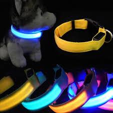 collar light for small dogs new adjustable pet cat dog glow night flashing safety collar light
