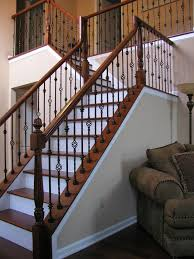 rod iron banister designs