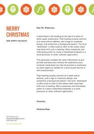 orange green ornaments christmas letterhead templates by canva