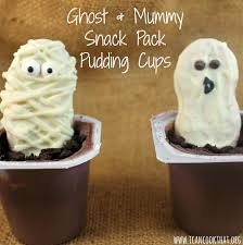 ghost and mummy pudding snack pack pudding cups recipe i can