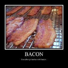 Funny Bacon Meme - food quote bacon cooked from the heart
