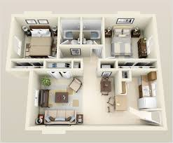House 3d Floor Plans Bedroom Fancy 10 Awesome Two Bedroom Apartment 3d Floor Plans