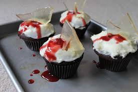 Gross Cakes For Halloween by Bloody Broken Glass Cupcakes Recipe Story Of A Kitchen