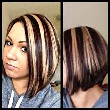 chunky highlight lowlight short hair pinterest