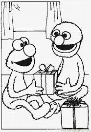elmo grover exchange christmas gifts coloring christmas