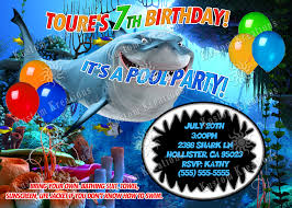 shark 1 birthday invitation kustom kreations