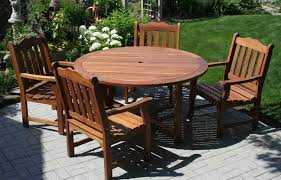 wooden patio furniture wonderfully enhances patio style garden