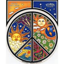 a101 nature peace symbol dan morris sun moon earth decal window