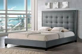 Tufted Platform Bed Baxton Studio Hirst Tufted Platform Bed