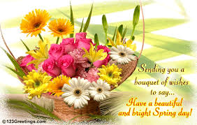 bouquet of bright wishes free happy ecards greeting
