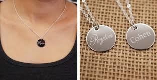 custom engraved jewelry personalized engraved necklace all collections of necklace