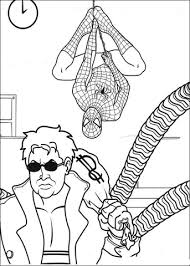 printable spiderman coloring pages doctor octopus free