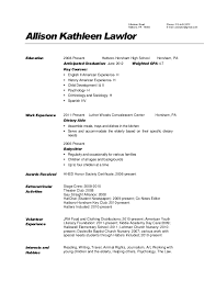Tim Hortons Resume Sample by Nursing Home Dietary Aide Resume Dietary Aide Resume Samples