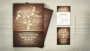 wooden wedding invitations read more string lights tree wooden barn wedding invitations