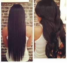 sew in extensions just extensions before after