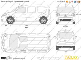 renault van kangoo the blueprints com vector drawing renault kangoo express maxi