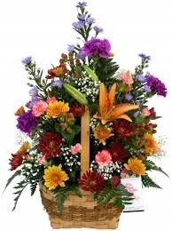 basket arrangements autumn in a basket basket arrangements in akron pa roxanne s
