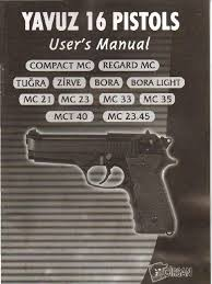 girsan yavuz 16 users manual trigger firearms handgun