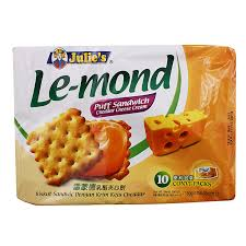julie cuisine le monde julie s le mond cheddar cheese puff sandwich 180g from redmart