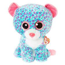 ty beanie boo large sydney leopard plush toy claire u0027s