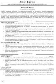 resume construction project manager objective statement examples