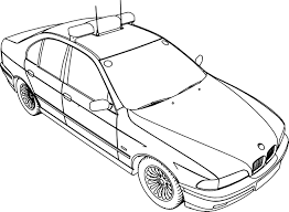 bmw 5 police car coloring page wecoloringpage
