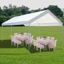 how many tables fit under a 10x20 tent goplus 10 x 20 steel frame canopy shelter portable car carport