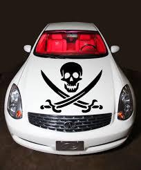 jeep hood decals car hood vinyl sticker decals graphics pirate skull with cross