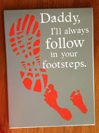 fathers day gift canvas that u0027s been painted then a shoe print