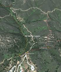 Santa Barbara Map Springs Canyon Officially Opens