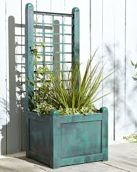 narrow trellis planter marisota
