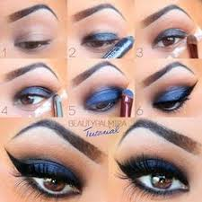 blue and brown perfect for brown eyes prom makeup