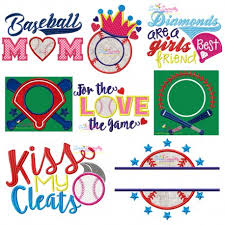 design embroidery baseball machine embroidery and applique design bundle
