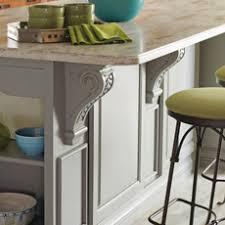 kitchen island with corbels kitchen island design ideas masterbrand cabinets