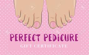 pedicure gift certificate for a nail salon cute feminine design