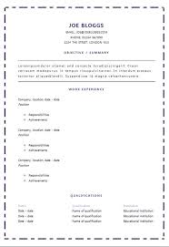 broken border résumé template microsoft word cv and résumé