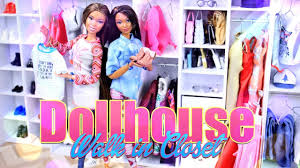 diy how to make dollhouse walk in closet handmade recycled