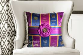 horse show ribbon pillow the trim made to
