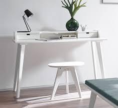 Schmaler Schreibtisch Aus Holz Moderner Sekretär Und Schreibtisch Im Retrostil Buche Weiß Narva