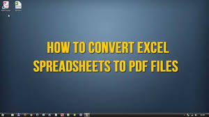 Free Spreadsheet Software For Windows 7 Convert Excel To Pdf For Free On Windows Youtube