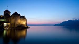 download wallpaper 1920x1080 castle river lake night full hd